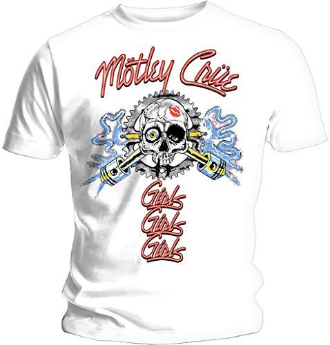 Motley Crue 'Vintage Spark Plug' (White) T-Shirt (x-Large)