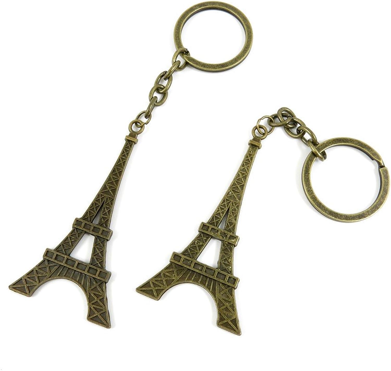 120 Pieces Fashion Jewelry Keyring Keychain Door Car Key Tag Ring Chain Supplier Supply Wholesale Bulk Lots Q9YJ8 Paris Eiffel Tower
