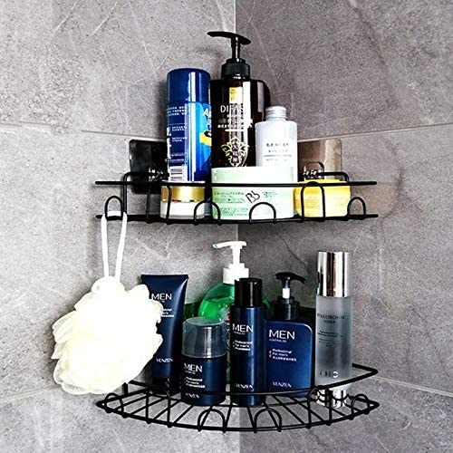 Yeegout Adhesive Shower In a popularity Caddies Corner 40% OFF Cheap Sale with Hooks Drilling Ba No