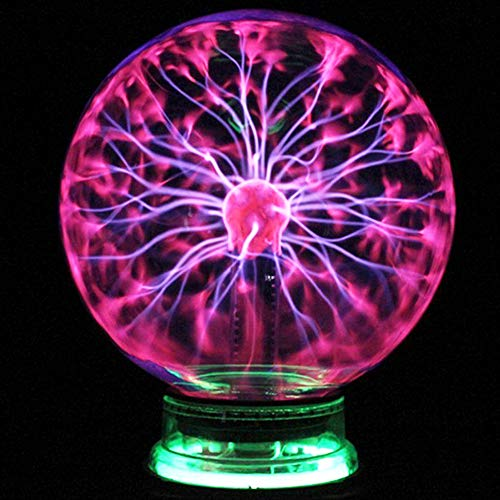 CXZC 4-Zoll-Plasma-Kugel-Magie, Berührungsbildschirm Plasma-Lampe, Nebel Kugel Neuheit-Spielzeug für Dekorationen/Kinder/Schlafzimmer