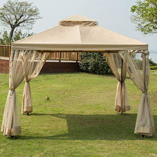 Sunnyglade 10' x10' Gazebo Canopy Soft Top Outdoor Patio Gazebo Tent Garden Canopy for Your Yard, Patio, Garden, Outdoor or Party
