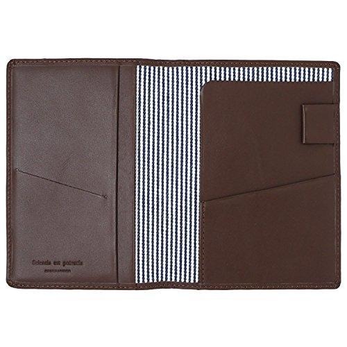 スリップオン パスポートケース ノワール 革 ダークブラウン NSL-2801