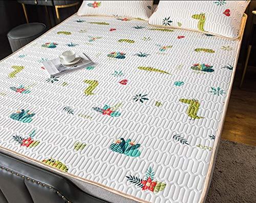 WXHHH Naturlatex-EIS-Silk Matratze, rutschfeste elastische atmungsaktiv Umwelt Massage-Matratze Faltbare Matratze