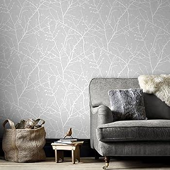 Graham & Brown 33-274 Innocence Grey Wallpaper Gray