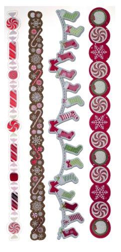 Martha Stewart Wilton Brands INC. Bordi Menta Stencil Inverno