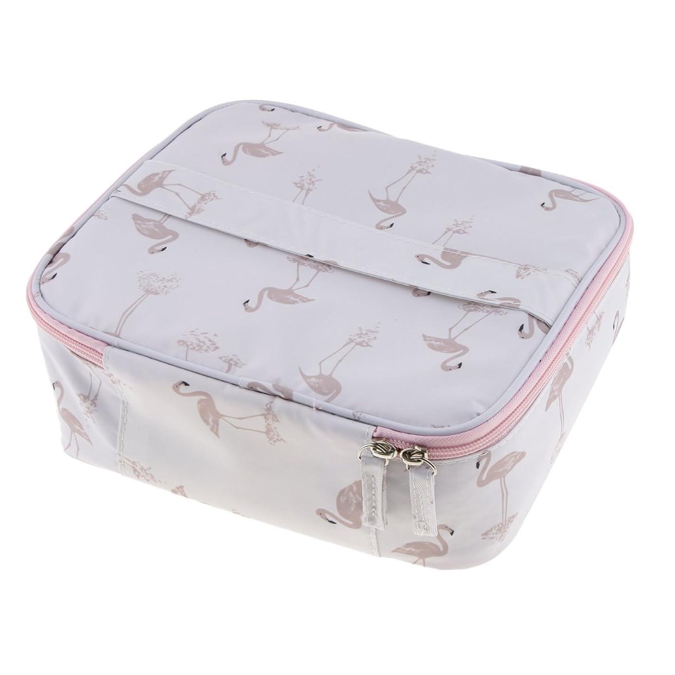 ピストルクスコプラットフォームFenteer メイクアップバッグ メッシュポーチ 便利 旅行 化粧品 メイクアップ ホルダーケース 収納袋 2色選べる - 白