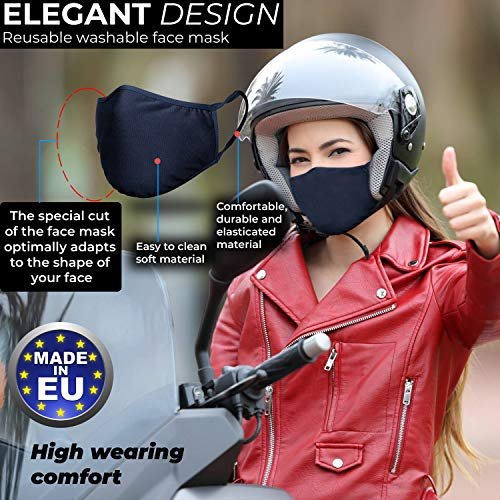 GENTSY Unisex Reusable Face Mask Protection Washable Facial Skin Mouth Nose Shield Breathable Anti Smoke Pollution Bike…