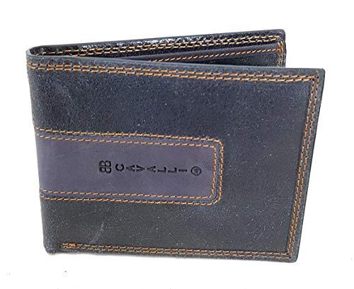 BBCavalli herenportemonnee van leer met klep voor kaarten en portemonnee, blauw, 1205-292E