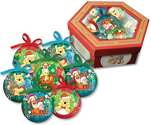 WINNIE - DISNEY BOX AVEC 7 BOULES DE NOEL 6506