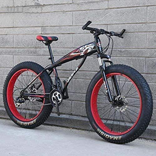 Cesto sucio Bicicleta de montaña BMX Bicicleta de montaña for el Adulto, Fat Tire Bike Rígidas MBT, de Alto Carbono Marco de Acero, Doble Freno de Disco, con Amortiguador Delantero Tenedor