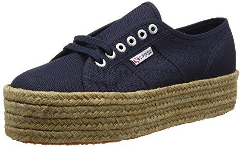 Superga 2790-COTROPEW, Zapatillas Mujer, Azul (Marineblau), 40 EU (6.5 UK)