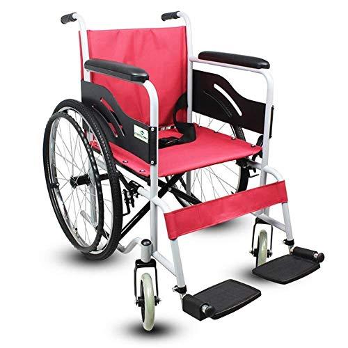 silla de ruedas Ofrecer alquiler de equipos de aluminio transporte, medicamentos anti-bacterianas, coche de color verde claro, 24 por carretera, Gran asiento 43,5 cm