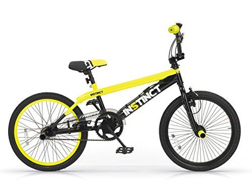 MBM istinct, vélo de BMX Freestyle Mixte Enfant, 901/18, Giallo A29, 20'