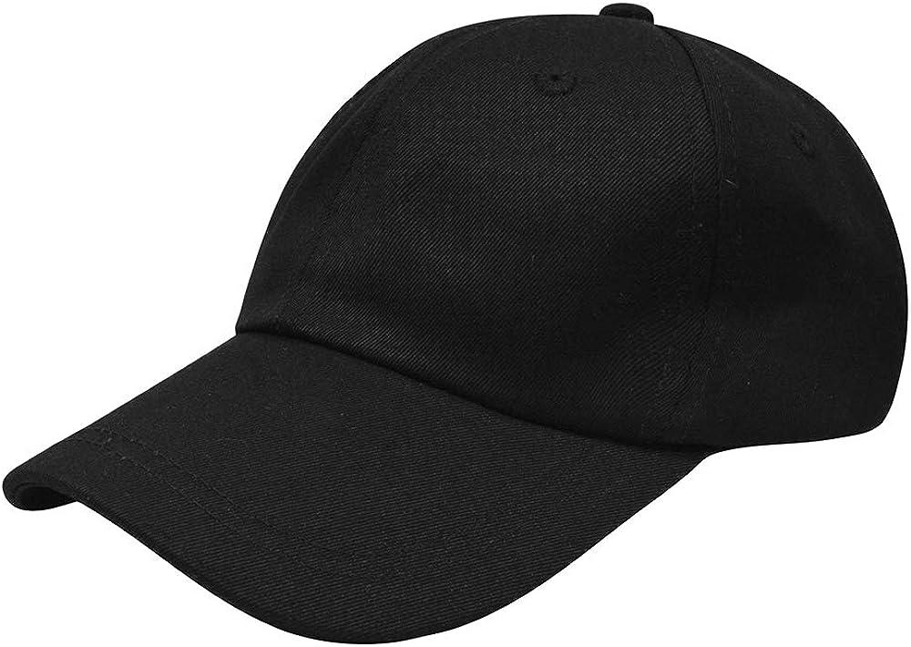 Plain Baseball Cap, 100% Cotton Classic Baseball Hat, Low Profile Plain Adjustable Dad Caps for Men and Women