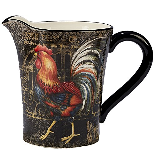 Certified International 23658 112 oz Gilded Rooster Ceramic Serveware, One Size, Multicolored,