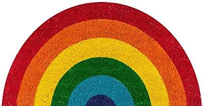 """Novogratz Aloha Collection Rainbow Doormat, 1'4"""" x 2'6"""", Multicolor"""
