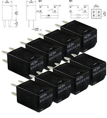 General Purpose Relays 303-1AH-C-R1-U01-12VDC SPNO 20A 12VDC (8 piece)