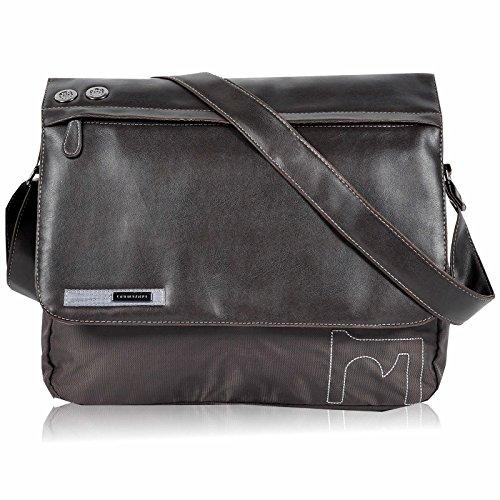 DANIEL RAY Umhängetasche BOUND Schultertasche Laptop Tasche Braun
