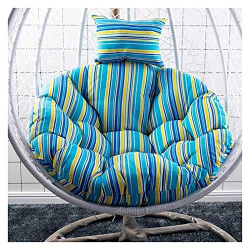 Cojín para silla de huevo DYYD, cojín para silla con columpio, silla colgante para silla de huevo o hamaca, para interior y exterior, para colgar en jardín, silla (color: azul)