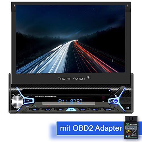 Tristan Auron BT1D7022A Android 10.0 Autoradio + OBD 2 Box I 32GB ROM I 7'' Touchscreen I GPS Navi I Bluetooth Freisprecheinrichtung I USB SD DAB Plus I 1 DIN