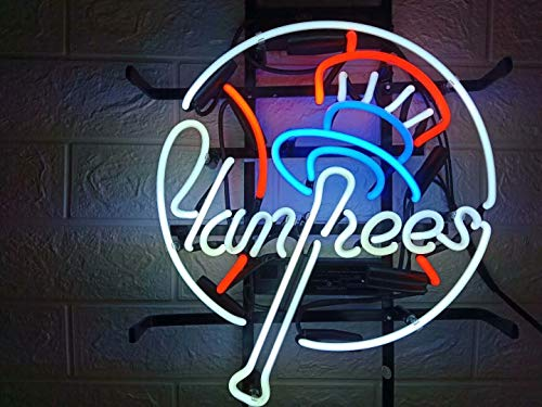 LDGJ Neon Signs for Wall Decor Handmade Sign Home Sports Teams NYY Custom Beer Bar Pub Recreation...