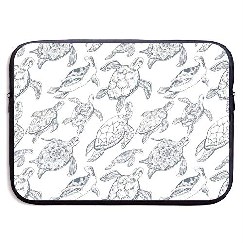 Waterproof Laptop Sleeve 15 inch, Sea Turtles Painting Business Briefcase Protective Bag, Computer Case Cover for Ultrabook, MacBook Pro, MacBook Air, Asus, Samsung, Sony, Notebook