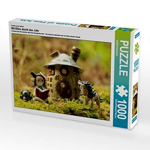 CALVENDO Puzzle Mit Elfen durch das Jahr 1000 Teile Lege-Größe 64 x 48 cm Foto-Puzzle Bild von Judith Doberstein