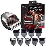 Remington QuickCut HC4250 – Máquina de Cortar Pelo, Cortadora de Pelo con Cable o Inalámbrica, Gris, 9 Peines Guía de 1,5 a 15 milímetros