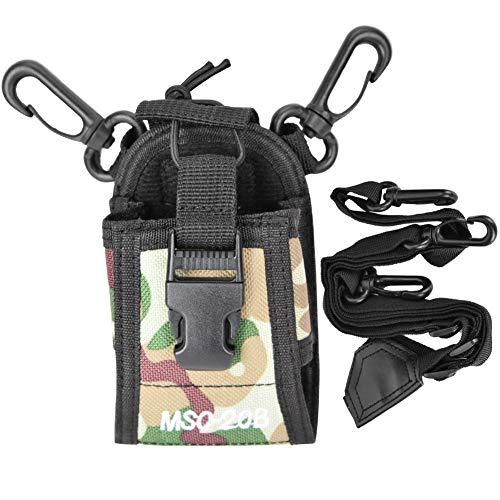 Sonew Radio Walkie Talkie borstzak, draagbare nylon schouderriem riem beschermer tas voor politie, productie workshop, bouwplaats