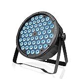 BETOPPER Luz LED 54 * 1.5w Luz de escenario RGB Luz de discoteca 3 en 1 DMX512, DJ par light, adecuada para bodas, espectáculos, escenarios, bares, salas multifuncionales, etc.(1)