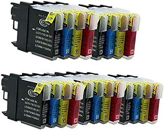 No-name Compatible Ink Cartridge Replacement for Brother LC39 LC60 LC975 LC985 MFC-795CW MFC-J800D MFC-J800DW MFC-J805D MFC-J805DW Inkjet Printer (5 Black,5 Cyan,5 Magenta,5 Yellow)