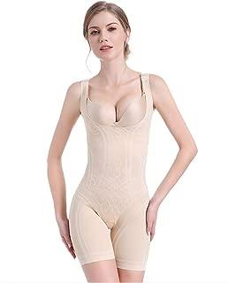 DHINGM Women's One-Piece Corset Seamless Fat Burning Plastic Body Shaping Underwear,3D Quantum Flocking Corset,Postpartum Female Abdomen Waist Body Underwear (Size : M)