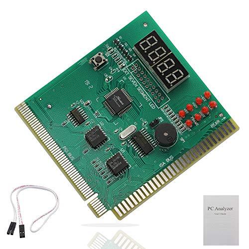 PC Diagnostic 4-Digit Card,Module Board Test & Measuring Module PC Computer Mother Board Debug Post Card Analyzer PCI Motherboard Tester Diagnostics Display for Desktop PC