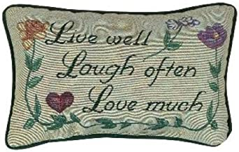 Manual 12.5 x 8.5-Inch Decorative Throw Pillow, Love Much
