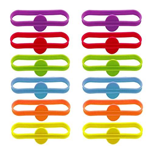 12 Pcs Marca Vasos Colores, Marcador de Vidrio, Marcadores de Silicona, Marcadores...