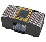 Bemecato Automatic Card Shuffler (1-2 Deck), Battery Operated Electric Card Shuffler Machine, for Family Party Poker/Blackjack/UNO