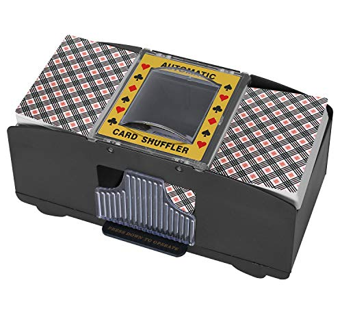 Alysontech Bemecato Automatic Card Shuffler (1-2 Deck), Battery Operated Electric Card Shuffler Machine, for Family Party Poker/Blackjack/UNO