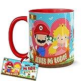 Kembilove Taza Desayuno para Parejas – Tazas Originales de Frikis para Enamorados – Taza Roja con Mensaje Gracioso ¡Eres mi todo! – Tazas de de café para regalar el día de San Valentín