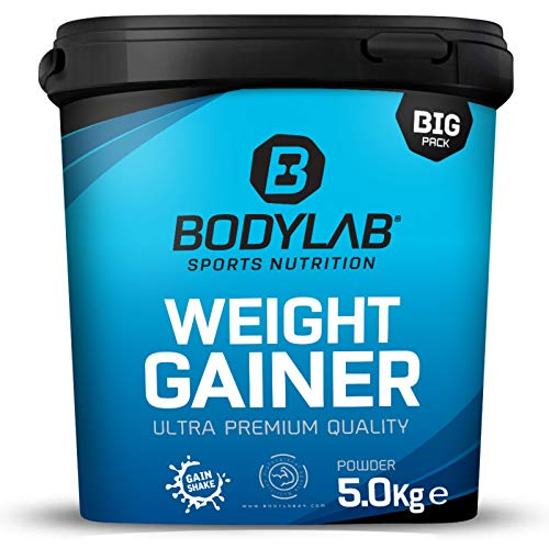 Bodylab24 Weight Gainer 5kg | ideales Verhältnis aus Kohlenhydraten und Eiweiß, über 1000kcal je Portion | Schokolade