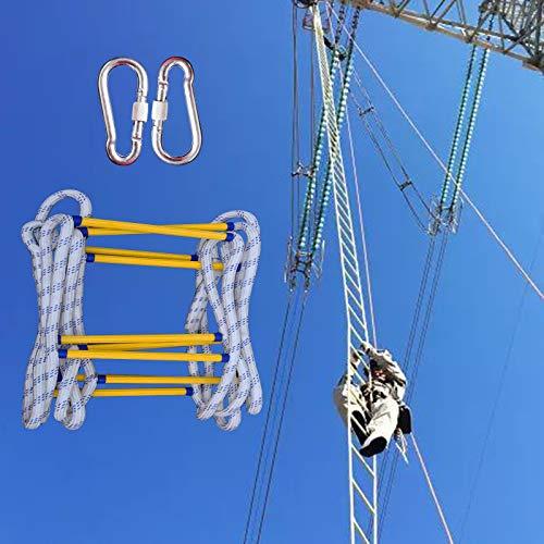 Escalera Cuerda Emergencia, Resistente Al Fuego Rápido Escaleras De Escape De Emergencia con Ganchos, Rescate Rápido Adultos Niños Desde El Balcón ZHANGXU (Size : 8m)