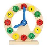 Lernuhr 1-12 Pädagogisches Spielzeug Lerngeschenk für Kleinkinder Kinder Baby Holz