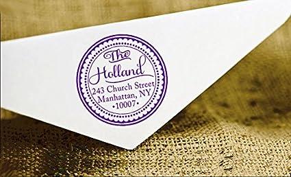 Kundenspezifische runde Adressen-Stamp-Adresse Personalisierte Stempel