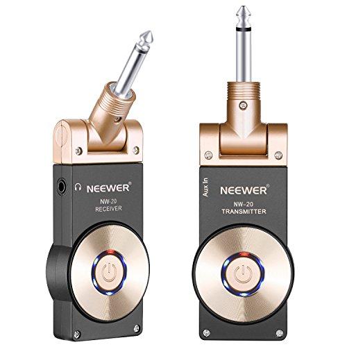 Neewer 2,4GHZ Receptor Transmisor de Guitarra Recargable Inalámbrico,