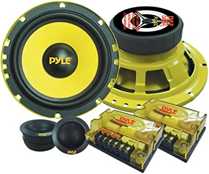 """Amazon.com: 2Way Custom Component Speaker System 6.5"""" 400 Watt Component  with Electroplated Steel Basket, Butyl Rubber Surround & 40 Oz Magnet  Structure Wire Installation Hardware Set Included Pyle PLG6C: Car  Electronics 