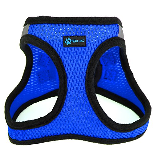 Max and Neo Nanu Small Dog Reflective Dog Harness - We Donate a Harness to a Dog Rescue for Every Harness Sold (X-Small, Blue)