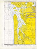 Historic Pictoric Vintage Map - Willapa Bay, 1970 Nautical NOAA Chart - Washington (WA) - Vintage Wall Art - 24in x 32in