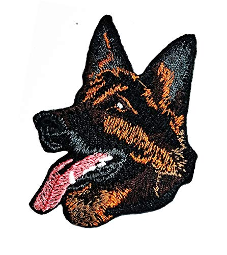 German Shepherd Dog Stickers Embroidery Patch Puppy Pet Dog Wolf Fox Wild Animals Cartoon Kid Baby Girl Jacket T-Shirt Patch Sew Iron on Embroidered Sign Badge Costume Clothing (10)