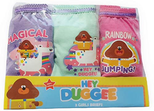 Hey Duggee Girls Pants Knickers Pack of 3 18-24 Months to 4-5 Years (4-5 Years)
