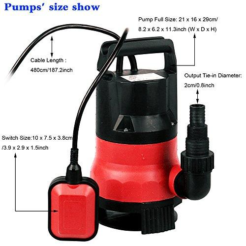 Homdox 1/2 HP Submersible Sump Pump