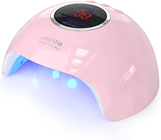 UV LED Nail Lamp, LANGSTAR 24W Nail Dryer with 12 LEDs and 3 Timer Setting for Gel Polish and Nail Art